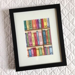 "Original Watercolour Artwork ""The Bookshelf"""